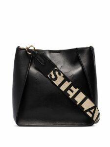 Stella McCartney perforated logo crossbody bag - Black