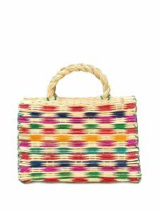 FOLKLOORE woven basket bag - Neutrals