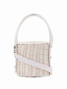 Wicker Wings Quan bucket bag - White