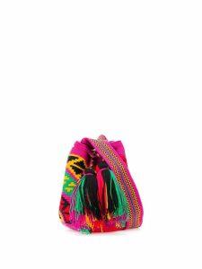 FOLKLOORE Colombian Wayuu small mochila - Pink