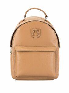 Furla logo plaque backpack - Brown