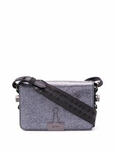 Off-White glitter binder clip bag - Silver