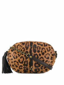 Jérôme Dreyfuss leopard print crossbody bag - Brown