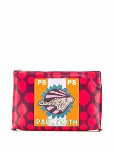 PS Paul Smith cheetah print clutch bag - Purple