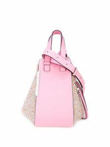 Loewe melange leather panel shoulder bag - Pink