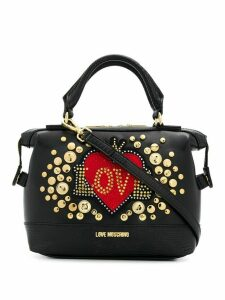 Love Moschino logo embellished tote - Black