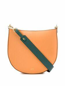Closed contrasting strap shoulder bag - Orange