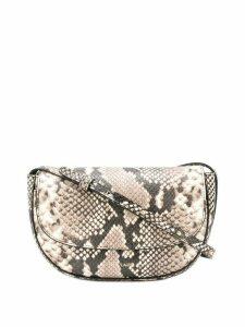 Frenzlauer mini Swing snakeskin effect bag - Neutrals