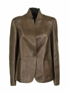 Brunello Cucinelli Leather Double Jacket