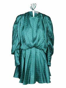 The Attico Star Print Draped Mini Dress