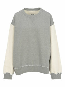 Mm6 Oversized Contrast Sweatshirt