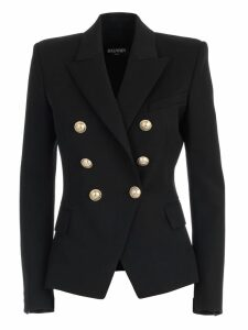 Balmain Blazer Double Breasted Wide Neck