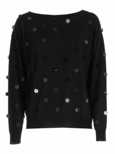 Parosh Sweater L/s W/macro Paillettes