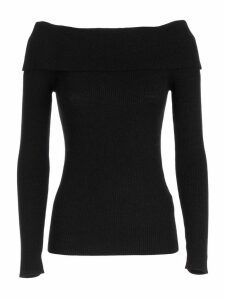 Parosh Sweater L/s Bare Shoulders Lurex