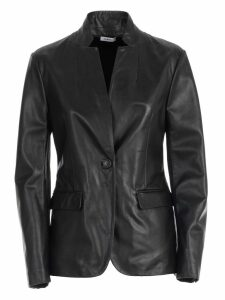 Parosh Blazer Single Breasted Leather
