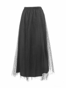 RED Valentino Black Point Desprit Tulle Skirt