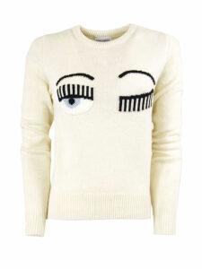 Chiara Ferragni Flirting Sweater In White