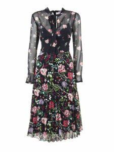 RED Valentino Muslin Dress With Cherry Blossom Print