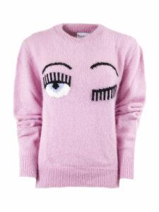 Chiara Ferragni Flirting Sweater In Lpink Angora Blend