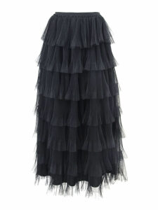 RED Valentino Black Tulle Point Desprit Skirt