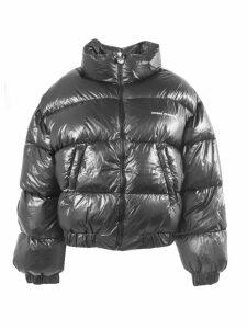 Chiara Ferragni Black Logomania Down Jacket