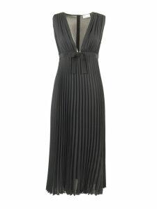 RED Valentino Deep V-neck Georgette Dress