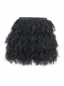 RED Valentino Black Tulle Miniskirt