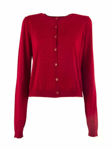 RED Valentino Red Wool, Silk And Cashmere Blend Cardigan