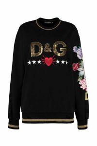 Dolce & Gabbana Patch Detail Crew-neck Sweatshirt
