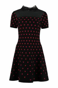 RED Valentino Tulle Insert Knit Dress