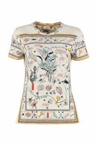 Tory Burch Printed Cotton T-shirt