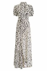 self-portrait Leopard Printed Crepe Dress