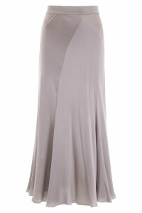 Alberta Ferretti Silk Satin Skirt