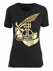 Anglomania Metallic Printed Logo T-shirt