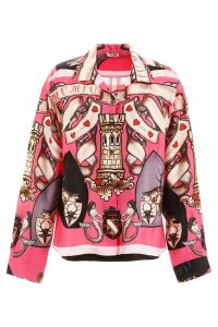 Miu Miu Printed Silk Shirt