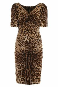 Dolce & Gabbana Leopard Print Midi Dress
