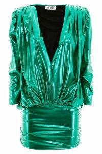 The Attico Metallic Mini Dress