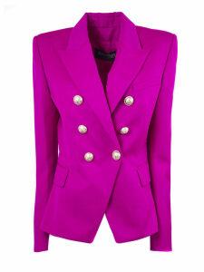 Balmain Fuchsia Wool Blazer