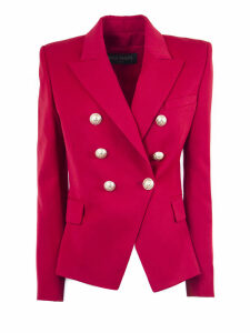 Balmain Red Wool Blazer