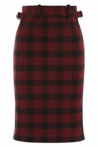 RED Valentino Tartan Midi Skirt