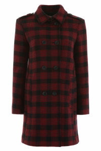 RED Valentino Check Coat