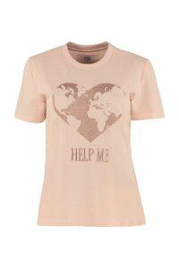 Alberta Ferretti Embroidered Cotton T-shirt