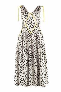 self-portrait Leopard Printed Midi Dress