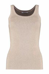 Max Mara Nora Knitted Silk-cachemire Blend Top