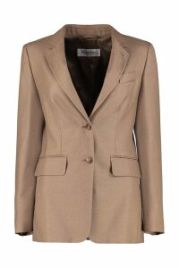 Max Mara Rosina Camel-wool And Silk Blend Blazer