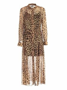 Be Blumarine Dress L/s Chemisier Animalier