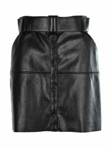 Msgm Faux Leather Belted Skirt