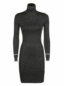 Off-White Metallised Knitted Dress