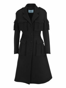 Prada Single-breast Flap Pockets Coat