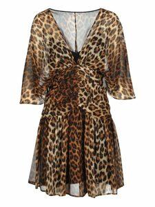 N21 Leopard Print Silk Mini Dress